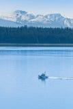 Coast Guard Ship Near Glacier Bay Stock Photo