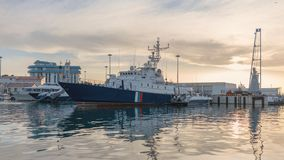 Coast Guard ships at berth royalty free stock photo