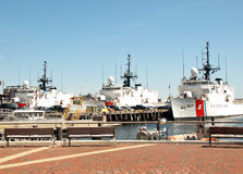 Coast Guard ships Royalty Free Stock Photography