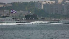 Coast guard ships Russia stock footage