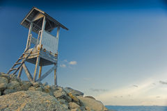 The coast guard tower. Royalty Free Stock Photography