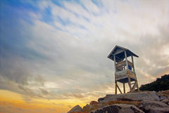The coast guard tower. Stock Images