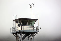Coast Guard Tower Overlooking the Pacific Ocean Stock Images