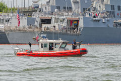 Coast Guard Transportable Port Security Boat Royalty Free Stock Photo