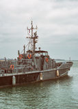 Coast Guard vessel. Stock Photo