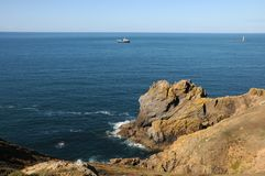 Coast of Guernsey at Torteval Stock Image