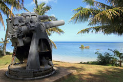 Coast gun in Ga'an Point Royalty Free Stock Images