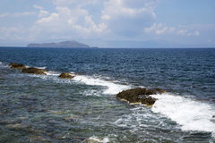 The coast in Hanya, the island of Crete, Greece Royalty Free Stock Photo