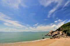 coast havsskyen wide Arkivfoto