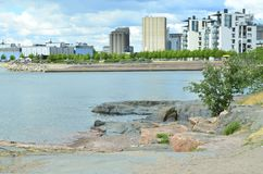 The coast of Helsinki, the capital of Finland. stock photography