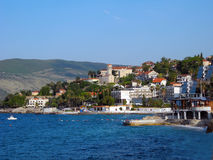 The coast of Herceg Novi in Montenegro. Royalty Free Stock Photos
