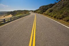 Coast highway with blue sky Stock Photography