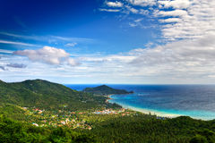 Coast from hill left Royalty Free Stock Photography