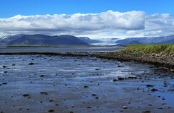 Coast of Iceland. Sea and rocks on the south coast of Iceland stock photography