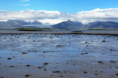 Coast of Iceland. Sea and rocks on the south coast of Iceland royalty free stock photography