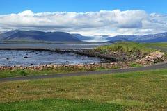 Coast of Iceland. Sea and rocks on the south coast of Iceland stock photos