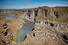 Coast of Icelandic river Jokulsa a Fjollum Royalty Free Stock Image