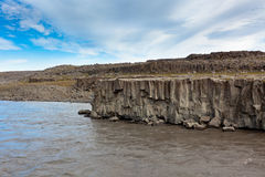 Coast of Icelandic river Jokulsa a Fjollum Stock Photography