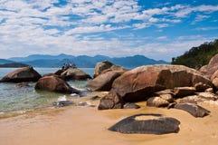 Coast of Ilha Grande Island, Rio de Janeiro State, Brazil Stock Images