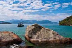 Coast of Ilha Grande Island, Rio de Janeiro State, Brazil Royalty Free Stock Photos