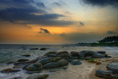 Coast of the Indian ocean Royalty Free Stock Photography