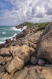Coast of the Indian Ocean - Sri Lanka. Royalty Free Stock Photo