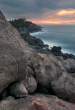Coast of the Indian Ocean - Sri Lanka. Royalty Free Stock Photography