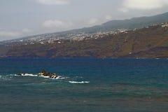 Coast of island in Atlantic. Puerto-de-la-Cruz, Tenerife, Spain Stock Photography