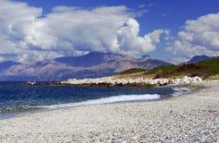 Coast of island of Corfu Royalty Free Stock Images