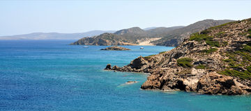 Coast on the island of Crete, Greece, Europe Stock Image