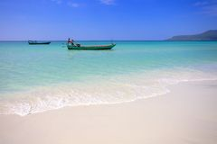 Coast of island Koh Rong. Cambodia Stock Image