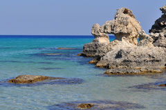 Coast of island Rhodes,Greece Stock Image