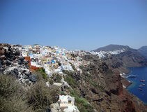 Coast of the island of Santorini Stock Image