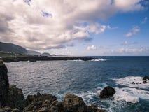 Coast. Island - stone coast - Tenerife - Canary Island Royalty Free Stock Photography
