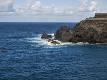 Coast. Island - stone coast - Tenerife - Canary Island Stock Image