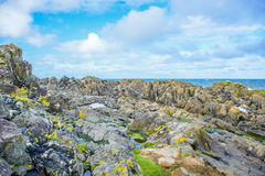 Coast of the Isle of Man from Peel Hill in Peel, Isle of Man Royalty Free Stock Image