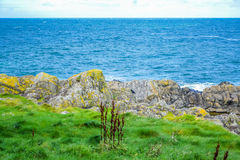 Coast of the Isle of Man from Peel Hill in Peel, Isle of Man Stock Photography