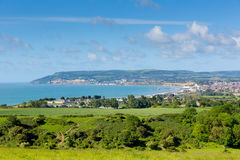 Coast of Isle of Wight at Shanklin and Sandown Stock Photography
