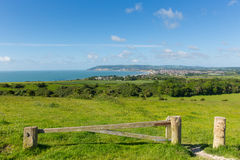 Coast of Isle of Wight at Shanklin and Sandown Royalty Free Stock Photos