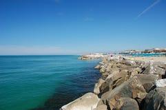 Coast in italy. Coast in marina di pisa, italy stock image