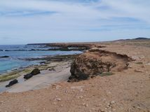 The coast of the Jandia peninsula on Fuerteventura Royalty Free Stock Photo