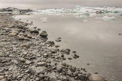 Coast of Jokulsarlon lagoon - Iceland. Stock Image