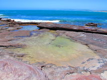 Coast of kalbarri, western australia stock photography