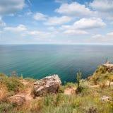 Coast of Kaliakra headland, Black Sea Coast Royalty Free Stock Photography