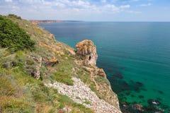 Coast of Kaliakra headland, Bulgaria, Black Sea Coast Stock Image