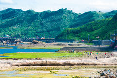 Coast in Keelung royalty free stock photos