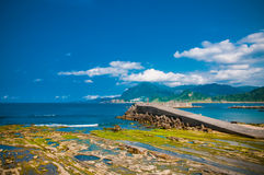 Coast in Keelung Stock Images