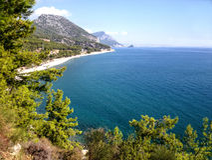 Coast between Kemer and Antalya, Turkey Royalty Free Stock Photo
