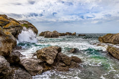 Coast at Kerlouan Royalty Free Stock Photo