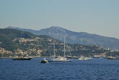 The coast of the Kingdom of Monaco Stock Photography